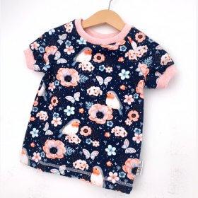 T-Shirt Vögelchen dunkelblau