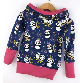 Hoodie für Mama Panda dunkelblau