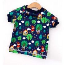 T-Shirt Rotkäppchen dunkelblau 74/80