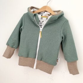 Walkjacke in mint