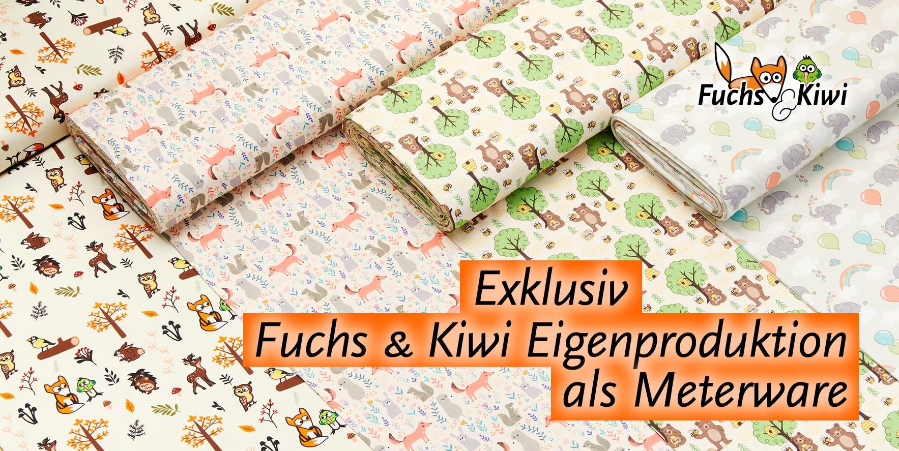 Die neuen Fuchs & Kiwi Eigenkollektionen Meterware
